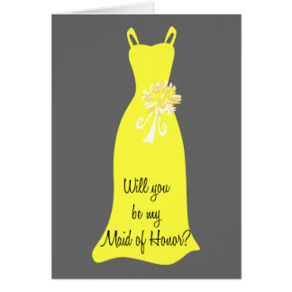 Be my Maid of Honor? Card