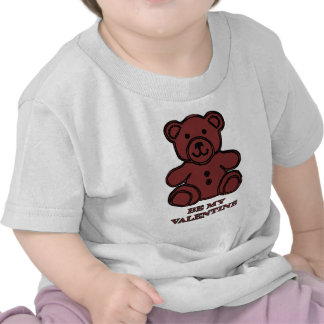 Be My Valentine Bear Brown The MUSEUM Zazzle Gifts Shirt