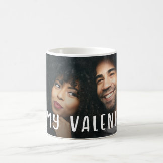 Be My Valentine | Modern Text and your Photo Coffee Mug