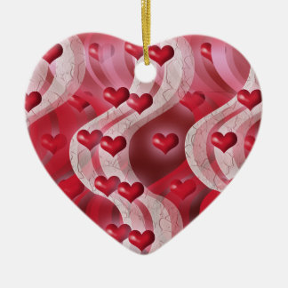 """""""Be my valentine"""" red heart decoration Christmas Tree Ornaments"""