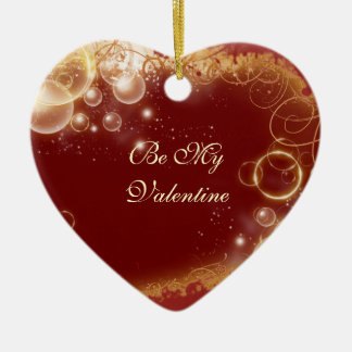 """""""Be my valentine"""" red heart decoration Christmas Ornaments"""