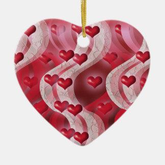 """Be my valentine"" red heart decoration Ceramic Heart Decoration"