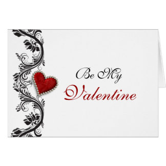 """""""Be my Valentine"""" romantic red heart Greeting Card"""