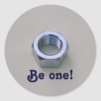 Be one! classic round sticker