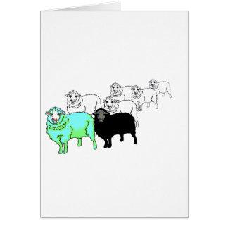 Be Original- Aquamarine Sheep Card