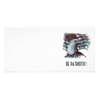Be Patriotic Photo Card