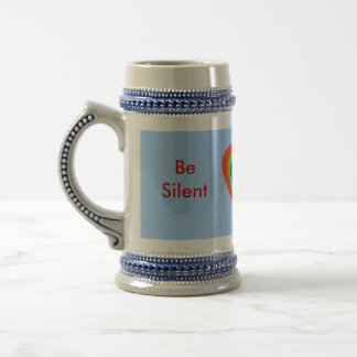 Be Silent The MUSEUM Zazzle Gifts 18 Oz Beer Stein