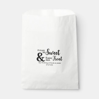 Be Sweet Enjoy this Treat Chic Wedding Favor Favour Bags