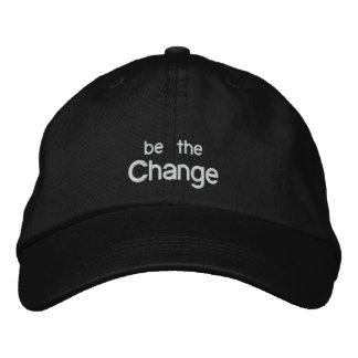 Be the Change Embroidery Hat /Black