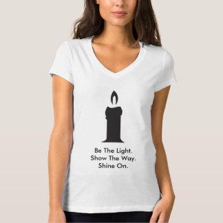 Be The Light Women V-Neck Short Sleeve Shirt