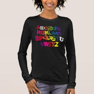 Be You Alphabet Funny Rainbow Typography Long Sleeve T-Shirt