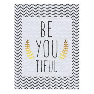 Be You Tiful Postcard