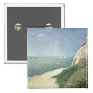 Beach at Bas Butin, Honfleur, 1886 15 Cm Square Badge