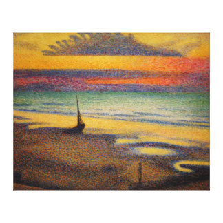 Beach at Heist by Georges Lemmen 1891 Gallery Wrapped Canvas