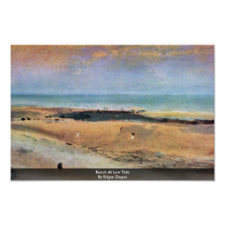 Beach At Low Tide By Edgar Degas Poster