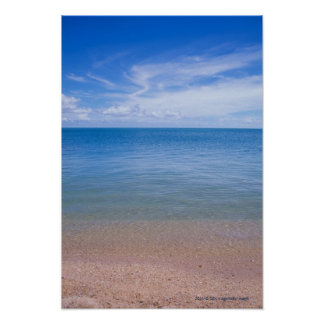 Beach at low tide poster