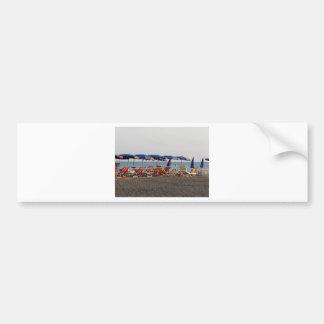Beach at sunset bumper sticker