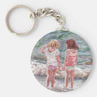Beach Babies Basic Round Button Key Ring