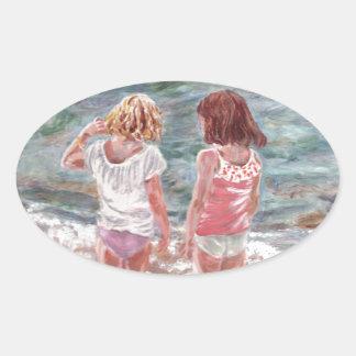 Beach Babies Oval Sticker