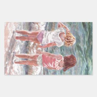 Beach Babies Rectangular Sticker