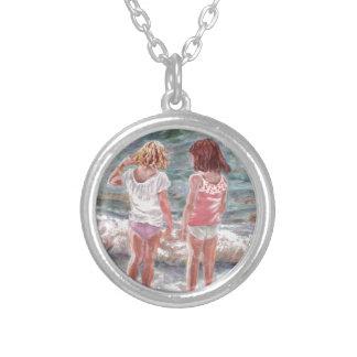 Beach Babies Round Pendant Necklace