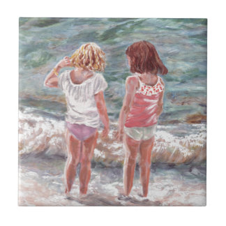 Beach Babies Small Square Tile
