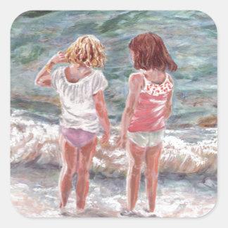 Beach Babies Square Sticker