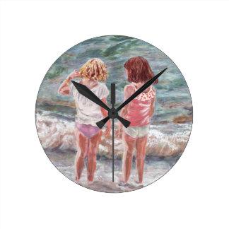 Beach Babies Wall Clock