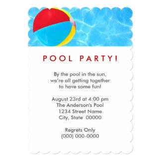 Beach Ball Pool Party 13 Cm X 18 Cm Invitation Card