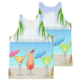 Beach Beach Summer Cocktails All-Over Print Singlet