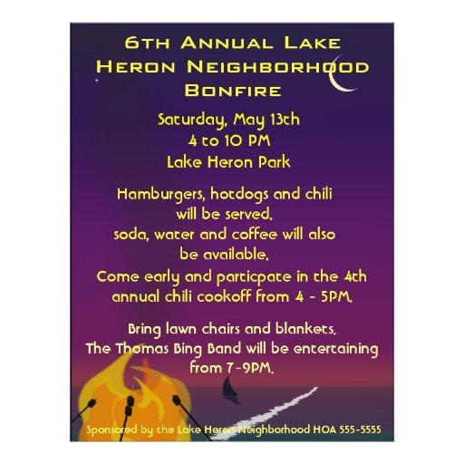 Beach Bonfire Party Flyer