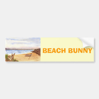'Beach Bunny' Bumper Sticker Car Bumper Sticker