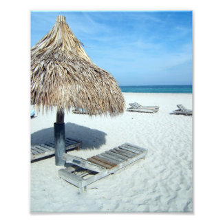 Beach Cabana, White Sand w/Aqua Water Vacation Photo