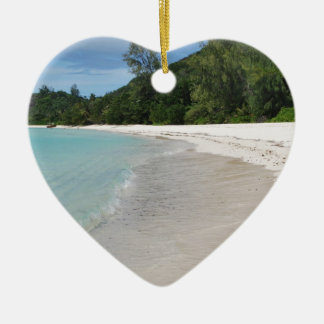 Beach Ceramic Heart Decoration
