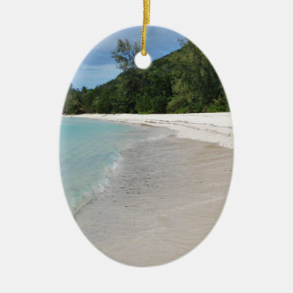 Beach Ceramic Oval Decoration