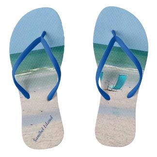 Beach Chairs In The Sand Sanibel Island Florida Thongs