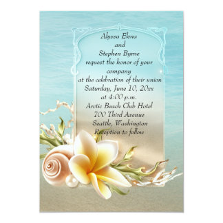 Beach Destination Wedding Invitation