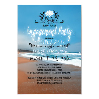 Beach Engagement Party | Seaside 13 Cm X 18 Cm Invitation Card