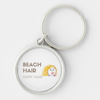 Beach Hair, Don't Care Keychain