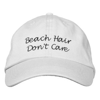Beach Hair Hat, Bachelorette party Embroidered Hat