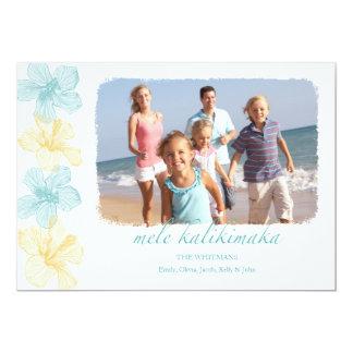 Beach Hawaiian Lei Christmas photo Cards 13 Cm X 18 Cm Invitation Card