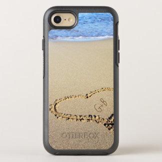Beach Heart Monogram OtterBox Symmetry iPhone 8/7 Case