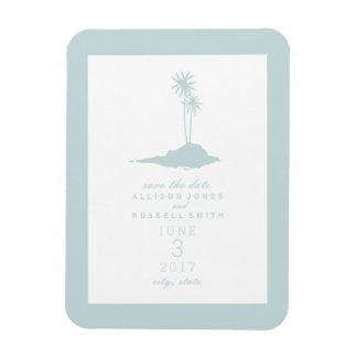 Beach Island Wedding Save The Date - Light Blue Magnet