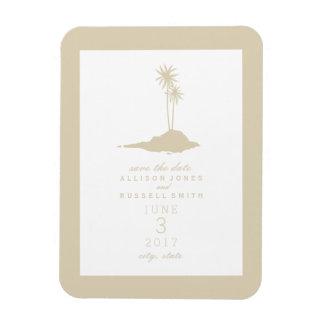 Beach Island Wedding Save The Date - Sand Magnet