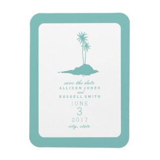 Beach Island Wedding Save The Date - Teal Magnet