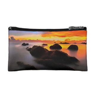Beach Landscape at sunrise Makeup Bag
