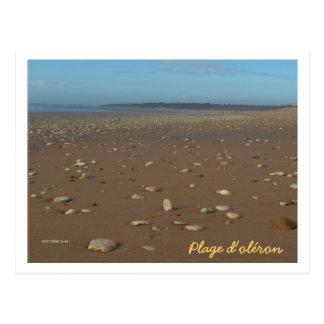 Beach of oléron postcard