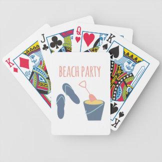 Beach Party Poker Deck