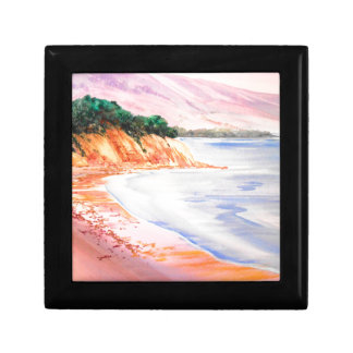 Beach, Pastel and Watercolor Gift Box
