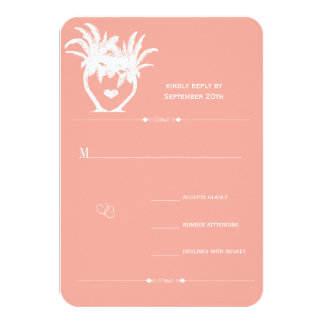 Beach Peach Palm Tree Destination Chalkboard Card